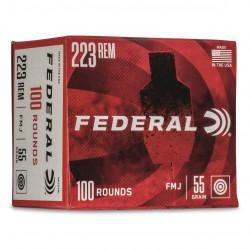 Federal 223 Rem 55gr FMJ...