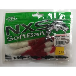 NXS MEGA GRUB 5'' WHITE RED...