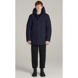 Kanuk - Mont-Royal Straight-fit, hip-length parka for men - Deep Blue Kanuk Clothing