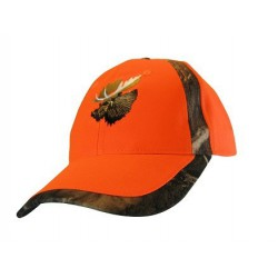 Cap w/Moose Orange/Camo