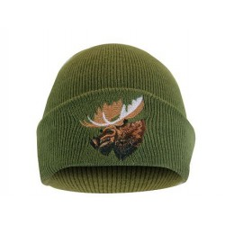 Tuque w/Moose Green
