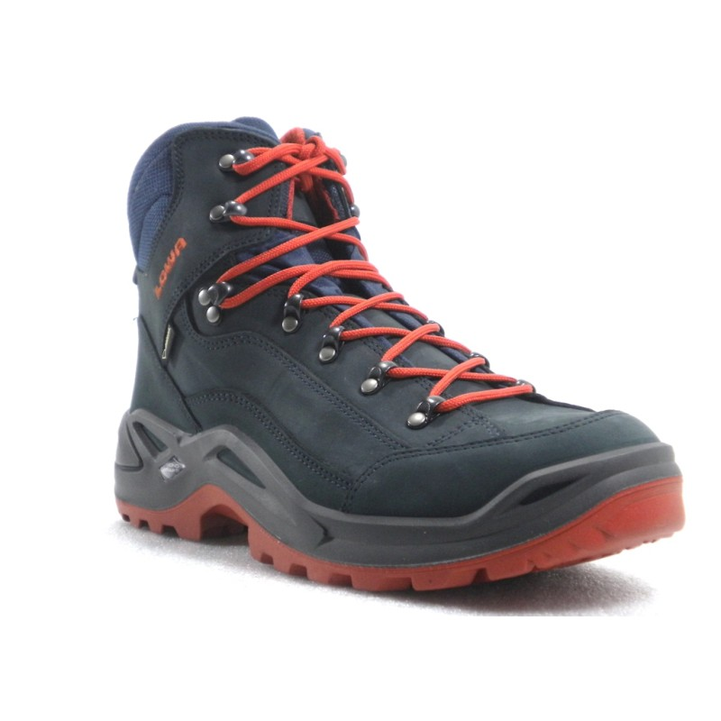 Lowa Renegade Gtx Mid Men S Hiking Boot Navy Rust Shoe